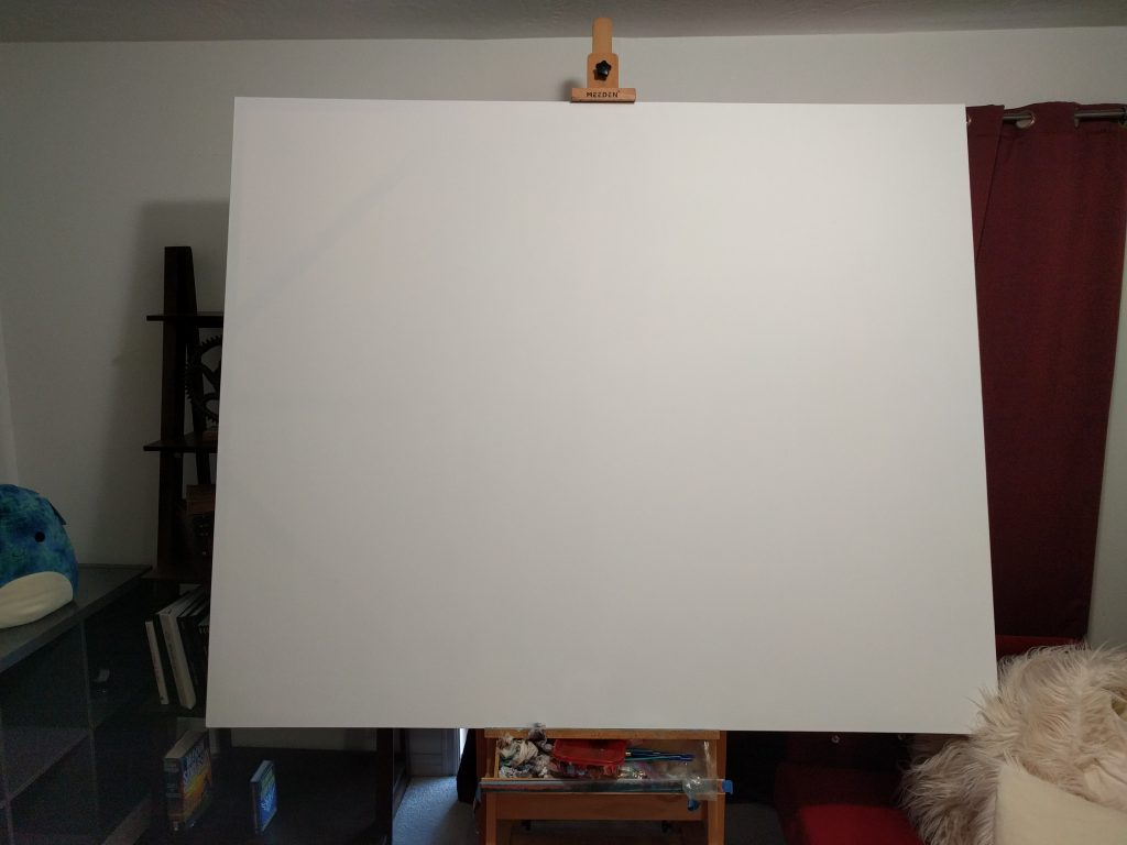 My Canvas Ready to be painted. My Art Update