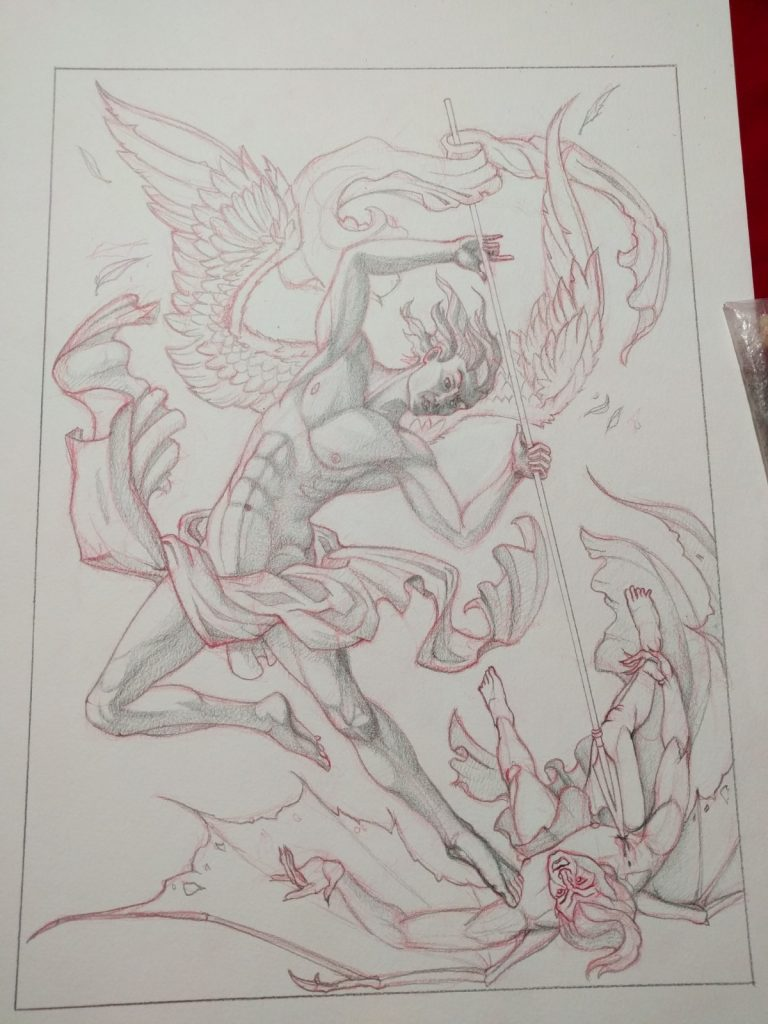 My Art Updates Michael the Archangel Seth Keller Art