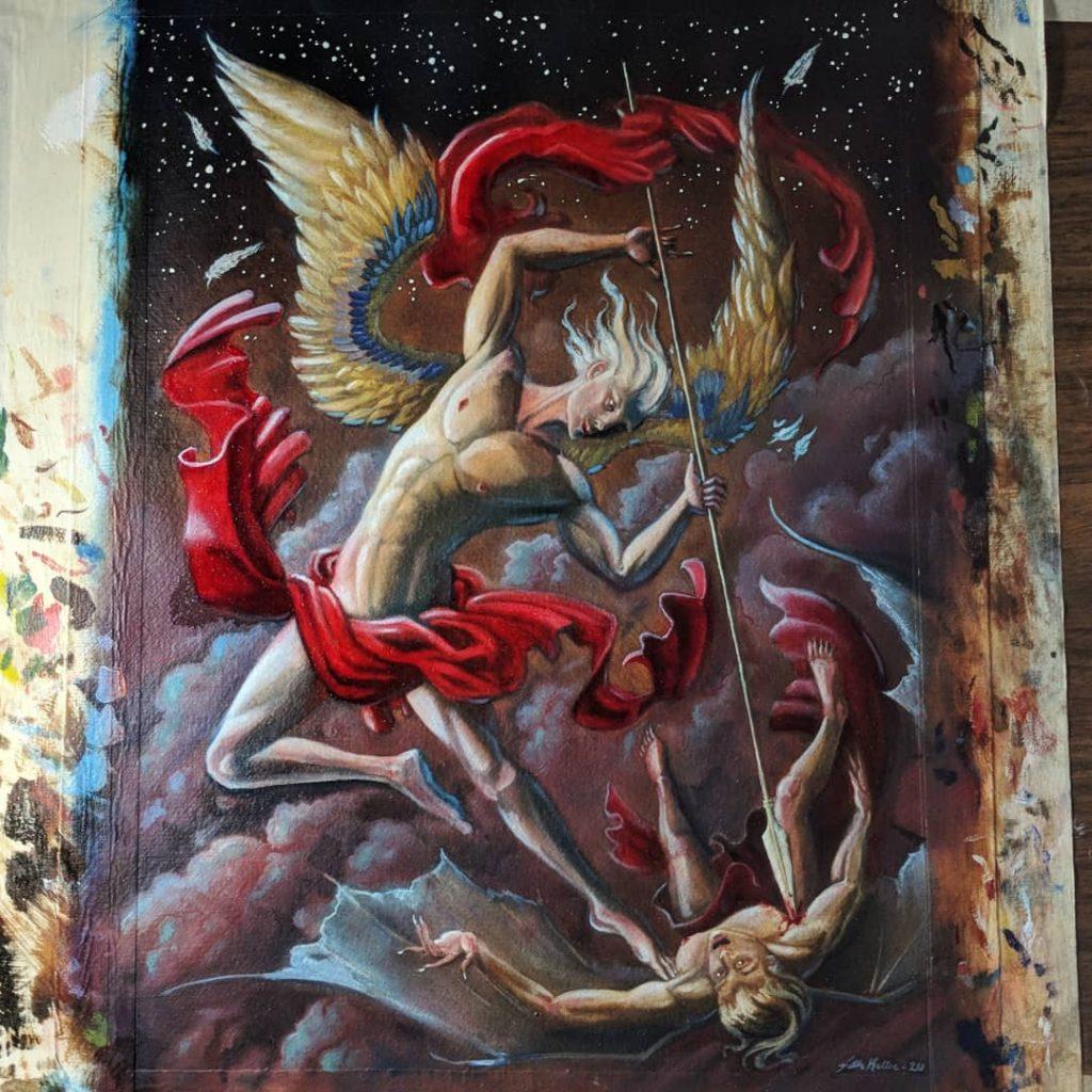 "My Art Update Seth Keller Portfolio Oil Painting on Paper 14.5""x10.5"""